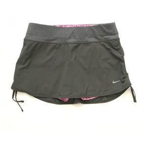 Nike Rival Dri-FIT Ruched Skirt Olive Green